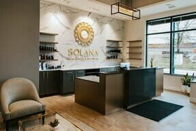 Footer Spa Lobby at Solana Aesthetics and Wellness in Lemont